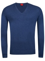 Pullover - Level Five - Merinowolle - blau
