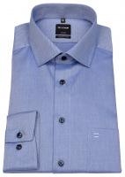 Hemd - Luxor Modern Fit - Feintwill - blickdicht - blau / weiß