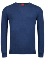 Pullover - Level Five - Merinowolle - Rundhals - blau