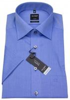 Kurzarmhemd - Modern Fit - Chambray - blau