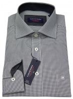 Hemd - Comfort Fit - schwarz / weiß - langer Arm 72cm