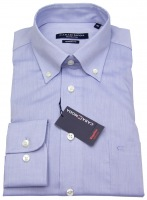 Hemd - Modern Fit - Button-Down Kragen - hellblau