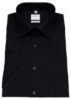 Kurzarmhemd - Comfort Fit - New Kent - schwarz