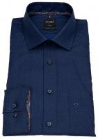 Hemd - Luxor Modern Fit - Print - blau / schwarz