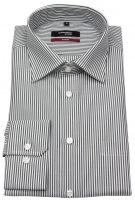 Hemd - Modern Fit - Kentkragen - Streifen - schwarz / weiß