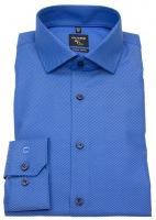 Hemd - No. Six Super Slim Fit - Twill - Streifen - blau