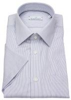 Kurzarmhemd - Modern Fit - Streifen - blau / weiß