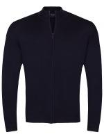 Zipper-Jacke - Merinowolle - dunkelblau