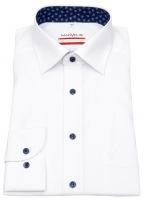 Hemd - Modern Fit - Patch - Kontrastknöpfe - weiß