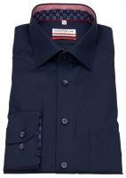 Hemd - Modern Fit - Patch - dunkelblau