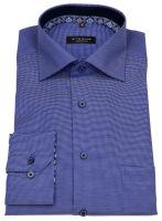 Hemd - Comfort Fit - Patch - blau / weiß