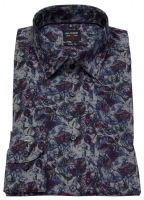 Hemd - Level Five Body Fit - Print - grau / rot / blau