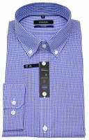 Hemd - Tailored Fit - Button Down - blau / weiß
