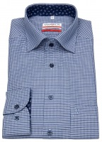 Hemd - Modern Fit - Under Button Down - dunkelblau / blau
