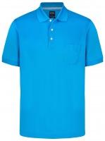 Poloshirt - Modern Fit- Piqué - blau