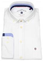 Hemd - Regular Fit - Button Down - Oxford - weiß