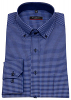 Hemd - Modern Fit - Button Down - dunkelblau / blau