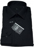Hemd - Modern Fit - schwarz - extra langer Arm 69cm