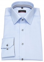 Hemd - Modern Fit - Cover Shirt - Kontrastknöpfe - hellblau