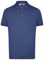 Poloshirt - Casual Fit - Piqué - indigo