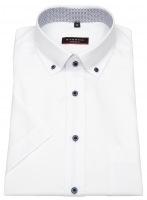 Kurzarmhemd - Modern Fit - Button Down - weiß