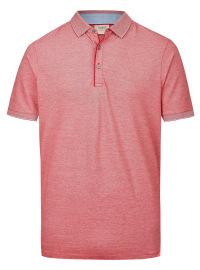 Poloshirt - Level Five Body Fit - Piqué - rot / weiß