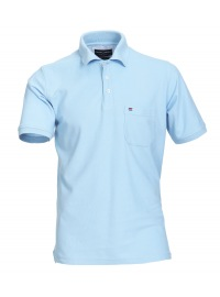 Poloshirt - Pima Cotton - hellblau