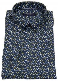 Casa Moda Hemd - Casual Fit - Under Button Down - blau / gelb