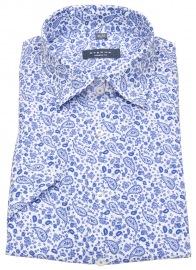 Kurzarmhemd - Modern Fit - Print - blau / weiß