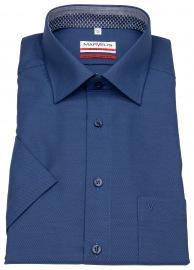 Kurzarmhemd - Modern Fit - Struktur - dunkelblau
