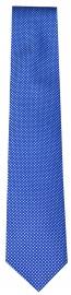 Seidenkrawatte - feines Muster - blau / weiß