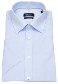 Kurzarmhemd - Regular Fit - Kentkragen - hellblau