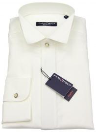 Hemd - Kläppchenkragen - verd. Knopfleiste - beige