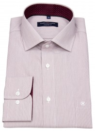 Hemd - Comfort Fit - Streifen - rot / weiß
