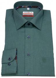Hemd - Modern Fit - Patch - Kontrastknöpfe - grün