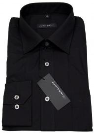 Hemd - Regular Fit - Kentkragen - schwarz