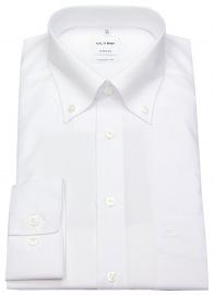 Hemd - Tendenz Regular Fit - Button Down Kragen - weiß