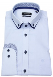 Hemd - Regular Fit - Patch - Button Down - hellblau - ohne OVP