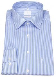 Hemd - Luxor Comfort Fit - Twill - Streifen - hellblau / weiß