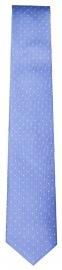 Seidenkrawatte - Slim - hellblau mit weissen Punkten