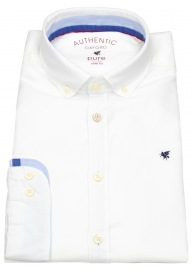 Hemd - Slim Fit - Button Down - Oxford - weiß