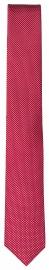 Seidenkrawatte - Super Slim - rot / weiß