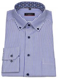 Hemd - Modern Fit - Button Down - Streifen - blau - 68cm Arm