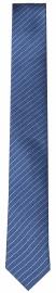 Seidenkrawatte - Super Slim - blau / hellblau