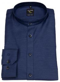 Hemd - No. Six Super Slim Fit - Stehkragen - dunkelblau