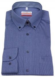 Hemd - Modern Fit - Button Down Kragen - blau / weiß - ohne OVP