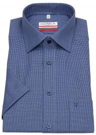 Kurzarmhemd - Modern Fit - Patch - Print - blau / hellblau