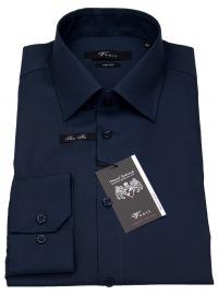 Hemd - Slim Fit - Kentkragen - dunkelblau