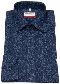 Hemd - Modern Fit - Print - blau / weiß