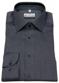 Hemd - Comfort Fit - Patch - Print - schwarz / grau